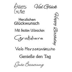 """Clear Stempel-Set """"Glückwünsche"""""""