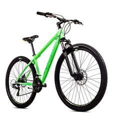 breluxx Mountainbike 29 Zoll Mountainbike Hardtail FS Disk Level 9.X Sport neon-grün, FS + Scheibenbremsen D2, 21 Gang Shimano Tourney Schaltwerk, Kettenschaltung
