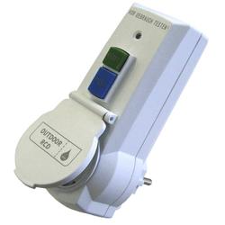 Personenschutz Stecker mit FI IP44 - Steckdose mit Kinderschutz