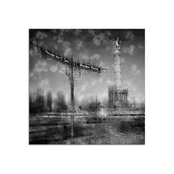 Artland Glasbild Berlin Siegessäule I, Gebäude (1 Stück) 30 cm x 30 cm x 1,1 cm