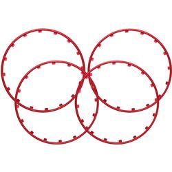 Rim Ringz Felgenring, 15 Zoll, Farbe rot