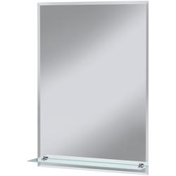 welltime Badspiegel Flex, mit Glasablage und Facettenschliff