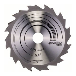 Bosch Kreissägeblatt Speedline Wood 190 x 30 x 2,4 mm 12