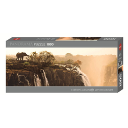 HEYE Puzzle Elephant Edition Humboldt 1000 Teile Panorama, 1000 Puzzleteile braun