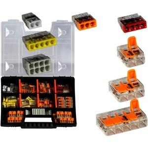 WAGO Sortimentbox NR 3 Variobox Wagoklemmen Box Hebelklemmen 2273-202-208 | 221-412 | 221-413 | 221-415 | 140 Stück incl. Sortimentbox
