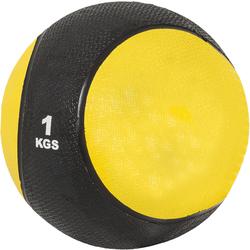 Medizinball aus Gummi Gelb 1 kg