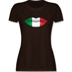 Shirtracer T-Shirt Lippen Bodypaint Italien - Länder - Damen Premium T-Shirt - T-Shirts bodypaint XXL