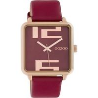 Oozoo C10363 Damen-Armbanduhr mit Lederband 35 mm weinrot