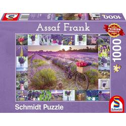 Schmidt Spiele Puzzle Schmidt 59634 - Premium Quality - Assaf Frank - Der Duft des Lavendels, 1000 Teile Puzzle, 1000 Puzzleteile