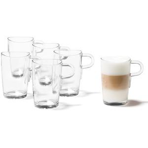 Leonardo Loop Latte-Macchiato Tasse, Kaffee-Gläser mit Henkel, spülmaschinengeeignete Becher aus Glas, 6er Set, 365 ml, 043366