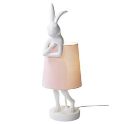 Tischleuchte mit niedlicher Hasen-Figur weiß ca. 68/23/23 cm