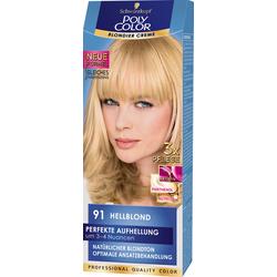 SCHWARZKOPF POLY COLOR Blondier Creme Coloration 91 Hellblond  Stufe 3  115 ml