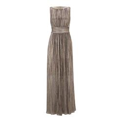 heine Damen Abendkleid dunkelblau / burgunder / altrosa, Größe 36, 5061571