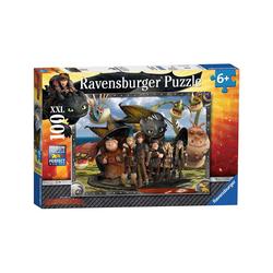 Ravensburger Puzzle Puzzle, 100 Teile XXL, 49x36 cm, Dragons: Ohnezahn, Puzzleteile