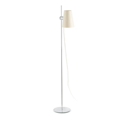 FARO Barcelona Stehlampe LUPE IP20 Chrom, Beige