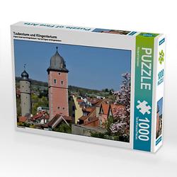 Taubenturm und Klingentorturm Lege-Größe 64 x 48 cm Foto-Puzzle Bild von Richard Oechsner Puzzle