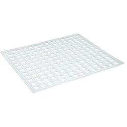 Gummi-Spülbeckenmatte, eckig, rutschfest, Maße: 31 x 26,5 cm, weiß