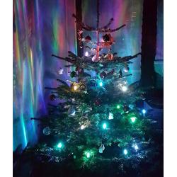 TRANGO LED-Christbaumkerzen LED Weihnachtskerzen, 24-flammig, TG340146RGB RGB Farbwechsel 24 LED Weihnachtskerzen mit Stecksystem Innenbereich Weihnachtsbeleuchtung, Lichterkette bunt