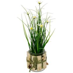 Kunstblume Margeriten im Gras Margeriten, I.GE.A., Höhe 33 cm, 3er Set weiß