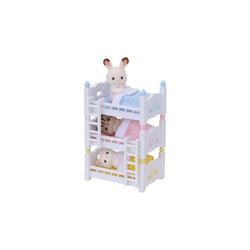 EPOCH Traumwiesen Puppenhausmöbel Sylvanian Families Dreistöckiges Baby-Hochbett