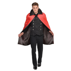 Halloween Adult Collared Reversible Cape Halloween Costume Accessory, Adult Unisex
