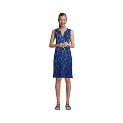 Strandkleid Print, Damen, Größe: 48-50 Normal, Blau, Jersey, by Lands' End, Tiefsee Meerestiere - 48-50 - Tiefsee Meerestiere
