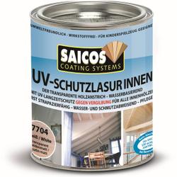 SAICOS UV-Schutzlasur Innen, weiß, UV-Langzeitschutz gegen Vergrauung und Vergilbung des Holzes, 750 ml - Dose