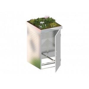 Binto Mülltonnenbox Edelstahl mit Pflanzschale
