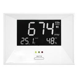 TFA CO2-Messgerät / CO2-Anzeige AirControl LIFE, Kohlendioxid, mit LED-Ampel und Alarm-Funktion