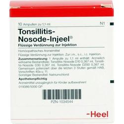 TONSILLITIS Nosode Injeel Ampullen