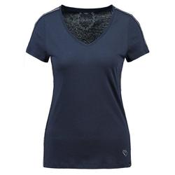 Key Largo T-Shirt WT TOAST mit stylischen Glitzerstreifen blau L