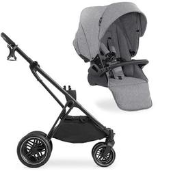 hauck Kinderwagen Visionx Black mit Sportwagenaufsatz Melange Grey