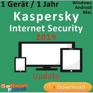 Kaspersky Internet Security 2019 *1-Gerät / 1-Jahr* Update Deutsch KEY