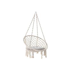 SONGMICS Hängesessel GDC40WT, Affenschaukel mit 8 cm dickem Kissen, Balkon, Garten, Off-White