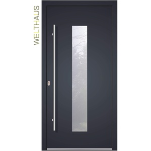 Haustür Welthaus WH75 Standardtür Aluminium mit Kunststoff LA 20 Tür (1100x2100 DIN links)