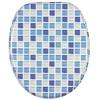 WC-Sitz mit Absenkautomatik Mosaik Blau