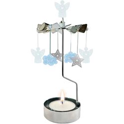 Metallfiguren Teelicht-Karussell - Ein Licht scheint für dich