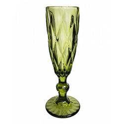 Horror-Shop Geschirr-Set Grünes Gothic Sektglas Lenora, Glas