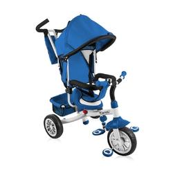 Lorelli Dreirad Dreirad, Tricycle B302A, mit Dach, Schubstange, Softsitz, Korb, Innensitz blau