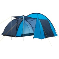 CampFeuer Doppel-Kuppelzelt blau/hellblau