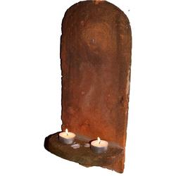 Guru-Shop Windlicht Dachziegel KerzenhalterBiberschwanz Wand..