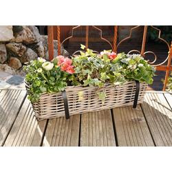 HomeLiving Blumentopf Rattan