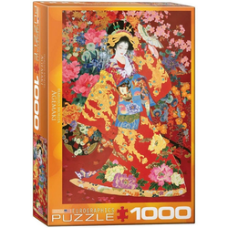empireposter Puzzle Haruyo Morita - Japan Kimono Art -Agemaki - 1000 Teile Puzzle im Format 68x48 cm, 1000 Puzzleteile