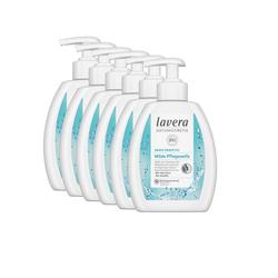 lavera Flüssigseife, 6-tlg., Pflegeseife Flüssigseife mild Bio-Aloe Vera Kamille