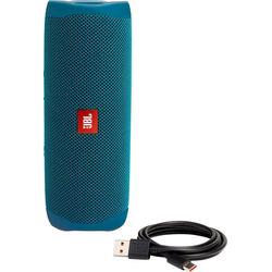 JBL Flip 5 Lautsprecher (Bluetooth, 20 W, Eco-Edition) blau
