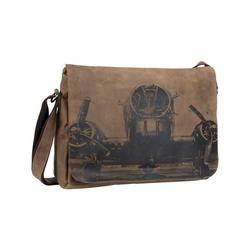 Greenburry Laptoptasche Vintage 1634 Kuriertasche XL RFID, Messenger Bag