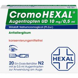 CROMOHEXAL UD EDP 0,5 ml Augentropfen 20 St.