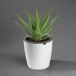 LazyLeaf Blumentopf selbstgießend 6,3l 32cm weiß/grau Micro-USB 1200mAh
