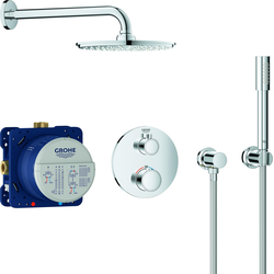 Grohe UP-Duschsystem GROHTHERM mit Rainshower Rainshower Cosmopolitan 210 chrom