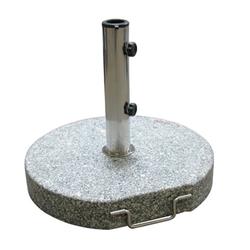 Sonnenschirmständer / Schirmständer rund 45 cm Granit grau 30 kg Schirmfuß